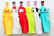 Kuhu Creations Cute 2pc Animal Microfiber Kids Cartoon Absorbent Hand Dry Towel