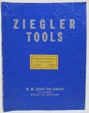 Vintage 1955 Ziegler Tool Company Machine Tools Industrial Equipment Catalog