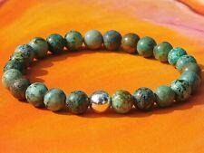 Mens / Ladies Handmade Gemstone & Silver Bracelet - Natural African Turquoise.
