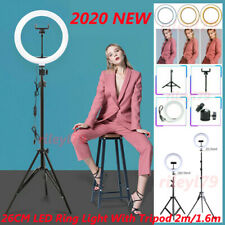10inch LED Ring Light with 2M Stand for Youtube Tiktok Makeup Video Phone Selfie