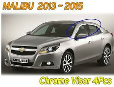 Chrome Window Visor Sun Rain Vent Door Guard K735 for CHEVROLET 2013-2015 Malibu