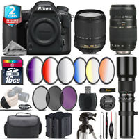 Nikon D500 DSLR + AFS 18-140mm VR + 70-300mm Lens + Extra Battery - 16GB Bundle