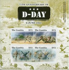 Gambia 2019 MNH WWII WW2 D-Day 75th Anniv 4v M/S Military & War Stamps