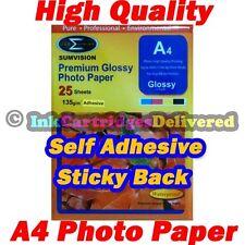 25 x HQ A4 135gsm Gloss Self Adhesive Premium Glossy Photo Paper Sticker Label
