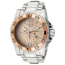 New Mens Invicta 10890 Excursion Reserve Chronograph Rose Dial Swiss Made Watch