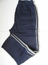 New Prospirit Mens Sueded Fleece Athletic Pants Deep Navy/Grey - Size: M