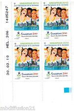 2010 - Bloc De 4 - Coin Date Neuf - Singapour .2010 - Jeux.Olympiques - Yt.4491