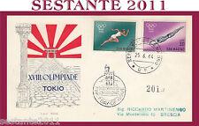 SAN MARINO FDC RODIA XVIII OLIMPIADE TOKYO 1964 (151)