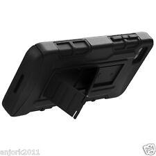 BlackBerry Z10 Hybrid C Armor Case Skin Cover w/ Kickstand Black