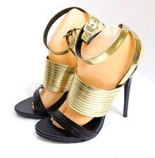 "EUC Donald J. Pliner DMSX ""Sammy"" Women's Size 7.5M Gold Leather Strappy Heels"