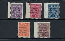 B&D: 1941 Montenegro Scott 2NJ1-2NJ5 Italian Occupation postage due MNH