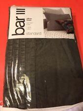 Bar III Garmen Wash100% Cotton PLEATED Pillow Sham Euro 20 x 26 Standard