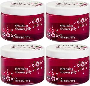 4 BODYCOLOGY CHERRY BLOSSOM CLEANSING SHOWER GEL JELLY FREE PRIORITY SHIPPING US