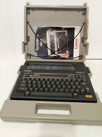 Vintage 1984 Canon Typestar 6 Personal Typewriter W/ Original Case & Instruction