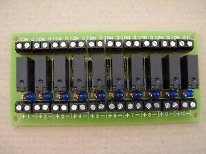 Handy 10 way relay Board 12v DC operation
