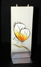 Butterfly Thin Flat Candle, twin wick, Unique Gift Idea #1
