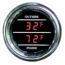 Teltek Inside Outside Auto Thermometer Gauge dual display for Any Semi/Pickup