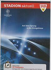Orig.PRG  Champions League  2009/10  VfB STUTTGART - FC TIMISOARA  !!  SELTEN