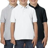 3 Pack Gildan Dryblend Childrens School Uniform Boys Girls Polo Shirts Shirt Top