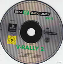 V-RALLY 2 BEST OF infrogames (ps1) Unique CD