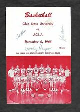 1968 OSU/UCLA Program SIGNED by Taylor, Wooden, Lew Alcindor and Woody Hayes