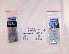 Weaver Bases 36s&35s for Weatherby Vanguard - Silver - ZOOM on Chart for OTHERS