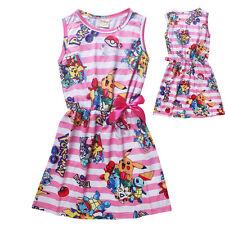 Kids Girl Pink POKEMON GO Pikachu Skirt Dress Children's Clothing Pink 6-7Years