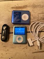 Apple iPod Nano 3rd Generation 8 GB Blue REFURBISHED BUNDLE