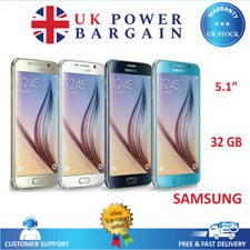 "Samsung Galaxy S6 32GB 5.1"" 4G 16MP Black White Gld Unlocked Smartphone"