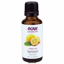 NOW Foods Lemon Oil 1 oz (30ml), 100% Pure Essential Oil, FRESH Made In USA