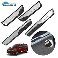 Stainless Steel Door Sill Scuff Plate Cover for HONDA CR-V CRV 2017 2018 4 PCS