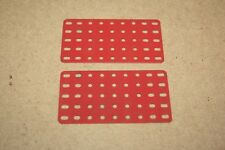 Märklin Baukasten 2x Rechteckplatte  9 x 5 Loch 153/9 oder 11352