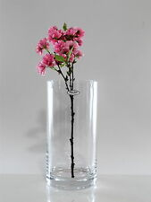 Time Tree Handmade Cylindrical Turkish Glass Vase Height 30cm Diameter 15cm