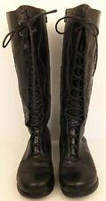Dansko Wms Black Leather Lace Up Zip Knee High Boots EUR 41 US 10 UK 8 Penelope