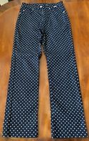 Escada Sport blue and white polka dot jeans size 4 US 34 Germany