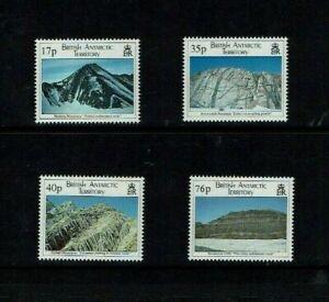 British Antarctic Territory: 1995, Geological Structures, MNH set