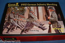 César Set #81 - WW2 German Infantry Marching. échelle 1/72 en plastique