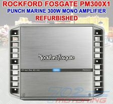 ROCKFORD FOSGATE PM300X1 REFURBISHED MONO 300 W RMS PUNCH MARINE CAR AMPLIFIER