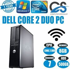 WINDOWS 7 VELOCE DELL OPTIPLEX FISSO PC COMPUTER CORE 2 Duo a @ 3.00GHz 500GB HD