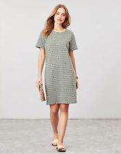 Joules Womens Liberty A Line Jersey Dress - Green Bee Stripe