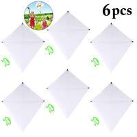 6xKinder Drachen Spielzeug Fliegender Drachen DIY Blank Painting Kite mit Wirbel