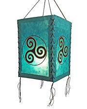 abat-jour,triskèle,lokta papier,L lumière de papier lampe Lampion à suspension