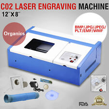 CO2 Laser Engraver Cutter Commercial Engraving Cutting Machine 40W USB Blue