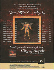 SARAH McLACHLAN Angel TRADE AD POSTER for City of CD