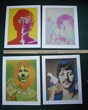 "Beatles Psychedelic Heavy Stock Posters Richard Avedon 4 Posters 15"" x 12"""