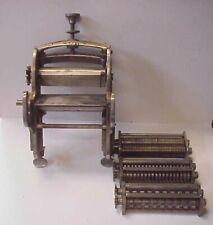 Antique Baccellieri Bros Pasta Noodle Cutter w 3 Noodle Attachments w Patent No.