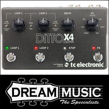 TC Electronic Ditto X4 Looper Stereo Guitar Effects Pedal RP$559