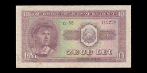 ROUMANIE - ROMANIA - 10 Lei 1952 P.88b B+ / G+
