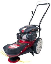22 in. Walk Behind String Trimmer Mower 150cc with Wheels and Foam Grip Handle