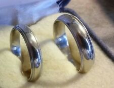 PAIR OF 10K WHITE GOLD WEDDING BANDS  SZ 8 3/4 & 6 3/4  EXCELLENT CONDITION((23)